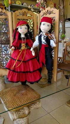 Bonecas de pano.  Ciganos.  Soraia Flores