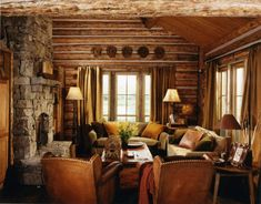 Rustic Living Room at the cabin