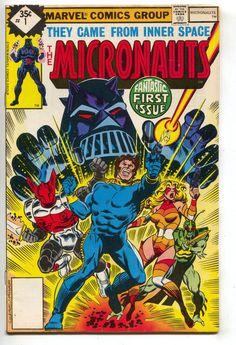 Micronauts 1 1st Series Marvel 1979 FN VF Whitman Variant Michael Golden