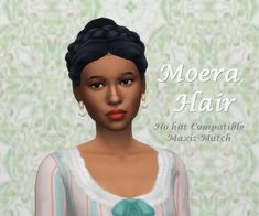 Sims Free Play, Play Sims, Large Curls, Sims 4 Teen, Sims 4 Mm Cc, Victorian Hairstyles, Sims Hair, Sims 4 Cc Finds, One Hair