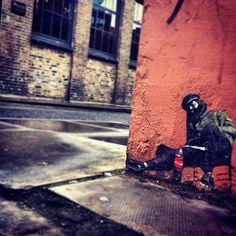 East London.  Street art near Brick Lane  - Steelasophical www.steelband.co.uk