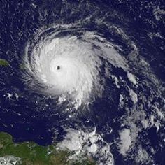 """US National Oceanic and Atmospheric Administration shows hurricane """"Katia"""" near Puerto Rico"""