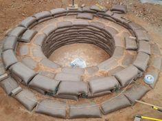 Earthbag Building: Building a Splash Pool