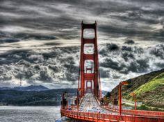 HDR Golden Gate Bridge.