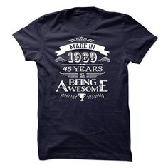 Made In 1969 - 45 Years Of Being Awesome! - #comfy sweatshirt #chunky sweater. ACT QUICKLY => https://www.sunfrog.com/Birth-Years/Made-In-1969--45-Years-Of-Being-Awesome-8144009-Guys.html?68278
