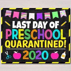 Last day of school quarantine sign School Chalkboard, Chalkboard Poster, Chalkboard Ideas, Kindergarten Photos, Letter To Parents, Parent Letters, End Of School Year, School Fun, School Ideas