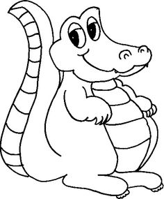 top 10 free printable crocodile coloring pages online | alligators ... - Alligator Clip Art Coloring Pages