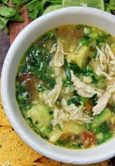 Chicken Avocado Soup - Love with recipe