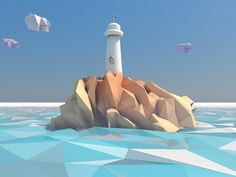 Lighthouse in low poly world designed by Andrus Valulis. Connect with them on Dribbble; the global community for designers and creative professionals. Game Design, 3d Design, Layout Design, Low Poly Games, Pikachu, Polygon Art, Low Poly Models, Low Poly 3d, 3d Studio