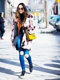 Parisienne: Multicolor faux-fur jackets