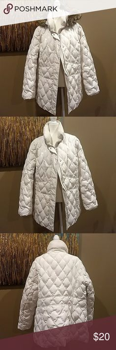12840babf4be2 Lane Bryant white down feather coat size 18 20