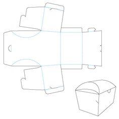 A lots of fun boxes! Дизайн упаковки: Выкройка Коробка «Сундучок»