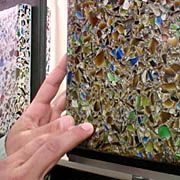 Recycled-Glass Cement Countertop