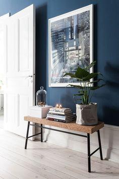 #Interieur #blauw + #bruin