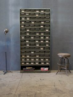 Old Industrial Infinite Drawer Cabinet : Factory 20