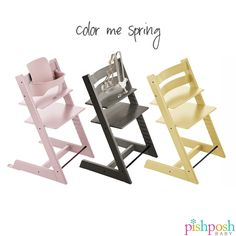 The @stokkebaby Introduces 3 Gorgeous New Colors For #SS16 For The Tripp  Trapp,