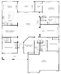Image result for four bedroom floor plan single story
