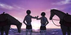 Heh, we actually made it!They're doing the Thug Trio thing!!!! You can almost see Farlan and Isabel standing either side!!! *Sobs* -Levi and Eren