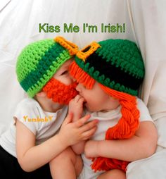 This is too cute for words, 2 Leprechaun Hats Saint Patricks Day