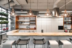 The Brain Embassy: An Inspiring Co-Working Space in Warsaw - Design Milk Visual Merchandising, Co Working, Coworking Space, Break Room, Create Space, Design Furniture, Cafe Design, Commercial Interiors, Warsaw
