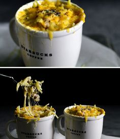 Sausage & Cheese Spaghetti Dinner | 23 Dorm Room Meals You Can Make In A Microwave