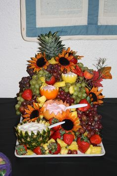 Fruit Tray - good idea for Neil and Chris' wedding!