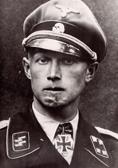 Christian Tychsen. Obersturmbannführer in the Waffen SS with the Knight's Cross of the Iron Cross, he was later awarded the Oak Leaves. August 1943.