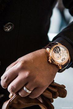 Reloj Antoine Martin, Quantieme Perpetual Tourbillon in rose gold Richard Mille, Sharp Dressed Man, Well Dressed Men, Gold Watches Women, Watches For Men, Ladies Watches, Chanel Watch, Look Man, Gentleman Style