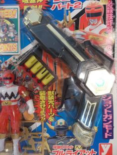 Power-Ranger-Lost-Galaxy-Gingaman-Black-Bull-Magna-Gun-Sword-Figure-Morpher