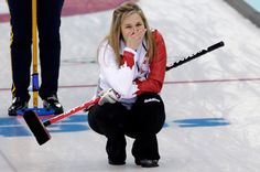 Jennifer Jones watches her final stone in the gold medal game against Sweden. Team Canada would win the game being the only women̵. Jennifer Jones, Winter Olympic Games, Winter Olympics, Olympic Curling, Women's Curling, Commonwealth Games, Olympic Team, Female Athletes