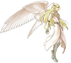 """Asenth'kiino """"Asentho"""" of the Kingdom of Demire. 21 yrs, gold hair, light skin and green eyes. He has wings. Brother to Talisan and Jemn'iasa (deceased). Important minor character."""