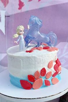 Take a look at this magical Frozen 2 birthday party! Love the birthday cake! See more party ideas and share yours at CatchMyParty.com Frozen Birthday Cake, Frozen Party, Party Activities, 2nd Birthday Parties, Princess Party, Disney Frozen, Party Favors, Treats, Sweet Like Candy