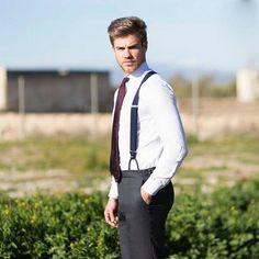 Mens Braces, Braces Suspenders, My Prince Charming, Business Outfit, Smart Styles, Mens Fashion, Fashion Suits, Mens Suits, Black Men