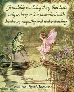 "Designed by Chas Bogan for The Mystic Dream. Illustration circa 1922 by Ida Rentoul Outhwaite from the book titled ""The Little Green Road to Fairyland"". Quote by unknown author."