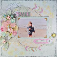 scrapbooking page. Love the pastels.