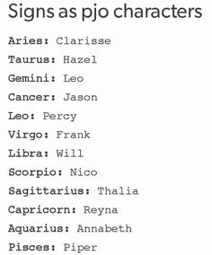 Image result for Percy Jackson Zodiacs