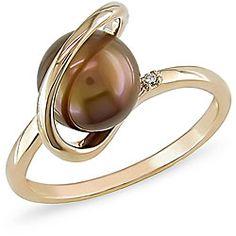14k brown freshwater pearl
