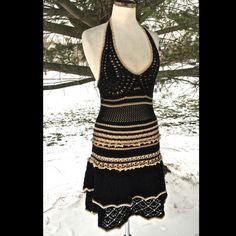 "Selling this ""VC black & nude crochet lace ruffled halter dress"" in my Poshmark closet! My username is: richbororiches. #shopmycloset #poshmark #fashion #shopping #style #forsale #Victoria's Secret #Dresses & Skirts"