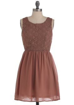 Make the Mousse of It Dress - Mid-length, Pink, Solid, Lace, Party, A-line, Sleeveless, Exclusives