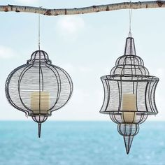 wire lanterns from West Elm  sadly no longer available- searching for a decent alternative.