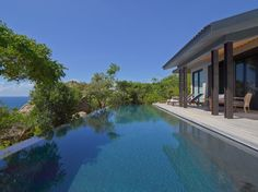 Each of the villas features a private pool, creating a unique complex of structures that are perfect for families who want to vacation together while also wanting to have their very own private spaces.  http://www.theluxurylisting.com/amanoi-vietnam/