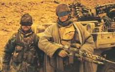22 SAS surveillance and reconnaissance patrol from A Squadron behind the lines during OP Granby (Iraq 1991).