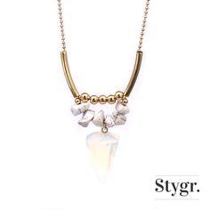 Fierce Statement Opal Necklace - Gold. Stygr. - Handmade Designs.   www.stygr.com