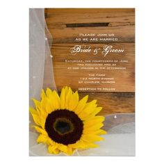 Sunflower and Veil Country Wedding Invite in each seller & make purchase online for cheap. Choose the best price and best promotion as you thing Secure Checkout you can trust Buy bestThis DealsHere a great deal...