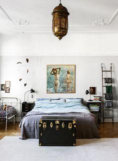 Inspireras av fem fantastiska sovrum med helt olika atmosfär – från gammaldags charm till rent och avskalat.