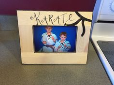 Craft time karate picture frame