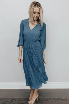 a0e5a365772 Baltic Born · Products · PRE-ORDER  Lana Pleated Dress in Spring Blue