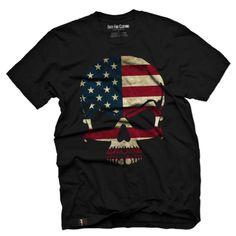American Flag Skull Vintage Men's T Shirt