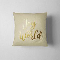 Joy to the World Christmas pillow Christmas decoration