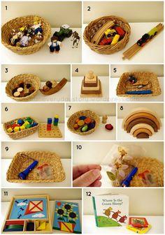 Montessori & Reggio presentation inspiration for toddlers